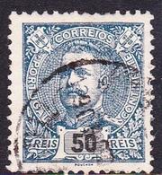 Portugal SG 351 1895 King Carlos Numerals, 50r Blue, Used - 1892-1898 : D.Carlos I