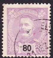 Portugal SG 355 1895 King Carlos Numerals, 80r Mauve, Used - 1892-1898 : D.Carlos I