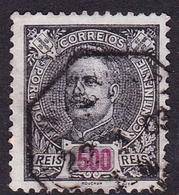 Portugal SG 362 1895 King Carlos Numerals, 500r Black On Blue, Used - 1892-1898 : D.Carlos I