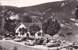 CPSM 73 @ NOVALAISE Le LAC - Savoie - La Plage Autos 1950's Dont Renault 4CV Publicitaire Entremets Francorusse - France