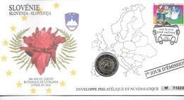 EURO SLOVENIE FDC ENVELOPPE PHILATELIQUE ET NUMISMATIQUE DU 1er JOUR D'éMISSION (A - Slovenië