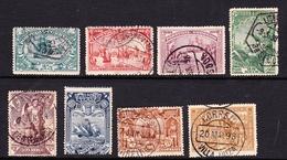 Portugal SG 378-385 1898 Vasco De Gama, Used Set, 50r Mint Hinged - 1892-1898 : D.Carlos I