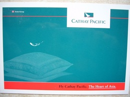 Avion / Airplane / CATHAY PACIFIC / The Heart Of Asia / Advertising Card / Pub / Airline Issue - 1946-....: Modern Era