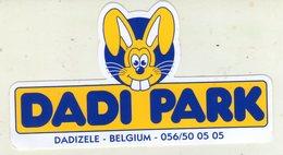 AUTOCOLLANT . STICKER . DADI PARK . DADIZELE . BELGIUM . PARC D'ATTRACTION - Stickers