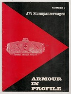 ARMOUR IN PROFILE NUMBER 7  A7V STURMPANZERWAGEN    MILITARIA - Anglais