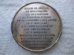 Medaille Pose 1er Pierre Du Palais De Justice Montpellier 1 Mai 1846 Louis Philippe, Par Barre - France