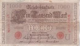REICHSBANKNOTE 1000 Mark - [ 2] 1871-1918 : German Empire