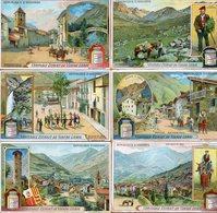 Lot 6 étiquettes - Véritable Extrait De Viande Liebig -  République D'Andorre - - Liebig