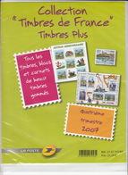 """FRANCE Collection """"TIMBRES DE FRANCE"""" Timbres Plus - 4ème Trimestre 2007 - Valeur Faciale 21,19 € NEUFS Sous Blister - France"""