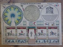 Construction Montage - Découpage 28 X 40 Collage Pliage Cirque Miniature Cirk Circus Imagerie D' Epinal - Technical Plans