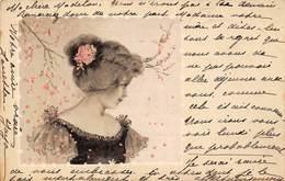 Illustration - Jeune Femme Portrait 1901 - Illustrateurs & Photographes