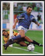 22735 Bhutan 1991 Football World Cup 35nu M/sheet #1 (Salvatore Schillaci) SG MS 971 Unmounted Mint - World Cup