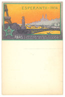 Cpa Thème Esperanto, PARIS 1914, Universala Kongreso ... Palaco Gaumont ( Tour Eiffel ) ( LI ) - Ausstellungen