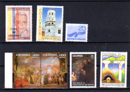 1987    Colombie, Entre Yv. 908 / 910 + PA 762 / 765**, Cote 17 €, - Colombie