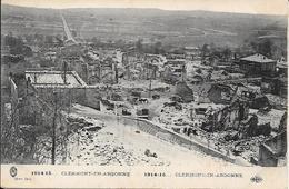 Cpa  55 Clermont En Argonne * Les Ruines , Ww1 ,  écrite 1916 Série De  Cartes à Son épouse Léontine - Clermont En Argonne