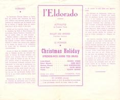 Ciné Cinema Pub Reclame Film - Programme Ciné  Eldorado - Christmas Holiday - Publicité Cinématographique