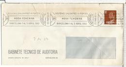 BARCELONA  CC CON MAT RODILLO 1982 MODA FEMENINA SALON PRET A PORTER TEXTIL - Textile