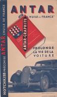 HOTCHKISS Préconise ANTAR L'huile De France, Petit Cartonnage 11x18,5 - Pubblicitari