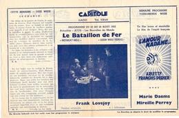 Ciné Cinema Pub Reclame Film - Programma Ciné Capitole Gent - Savoy - Select - La Bataillon De Fer - 1952 - Publicité Cinématographique