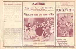 Ciné Cinema Pub Reclame Film - Programma Ciné Capitole Gent - Savoy - Select - Alice In Wonderland - Publicité Cinématographique