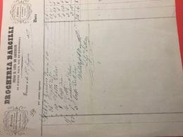 6-6-1857-DROGHERIA BARCILLI-FABBRICA DI CIOCCOLATA,CONFETTI E COLONIALI - Italia
