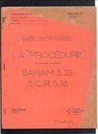 """Militaria Base Ecole 720 Caen / Cours Transmissions """"Procédure"""" (Téléphone Standard) SARAM 5.22 S.C.R.5.36 - Radios"""