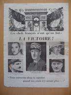 WWII WW2 Tract Flugblatt Propaganda Leaflet In French, EH(F).100, Ces Chefs Francais N'ont Qu'un But – LA VICTOIRE! - Non Classés