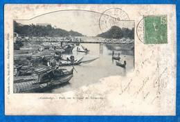 ASIE- CAMBODGE- Pont  Sur Le Canal  De Verneville -   Ed   Claude Et Cie   -CPA - Cambodge