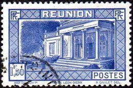 Réunion Obl. N° 142 Vue -> Musée Léon Dierx à Saint Denis Le 1fr50 Outremer - Réunion (1852-1975)