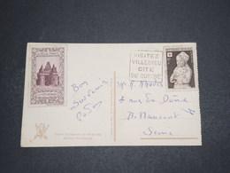 FRANCE - Vignette De La Ferté Bernard Sur Carte Postale En 1952 - L 16290 - Cartas