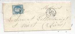 Lettre, 1867 , LUSIGNAN , Vienne , Poitiers , Niort, 2 Scans - Poststempel (Briefe)