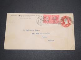ETATS UNIS - Entier Postal Commerciale+ Compléments Pour La France En 1915 , Timbres Perforés MNB - L 16291 - Perforados