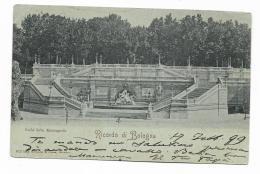 RICORDO DI BOLOGNA -SCALA DELLA MONTAGNOLA 1899  - VIAGGIATA FP - Bologna