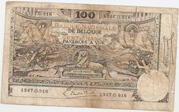 100 Fr - 2.10.20 - [ 2] 1831-... : Belgian Kingdom