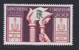 SAINT PIERRE ET MIQUELON AERIENS N°   26 ** MNH Neuf Sans Charnière, TB (D7017) Constitution Et Vote - Aéreo