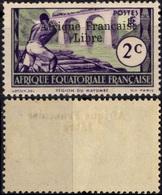 AEF Afrique Equatoriale Française 157 ** MNH Sans Charnière Surchargé Afrique Française Libre (CV 2,73 €) 2 - Unused Stamps