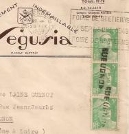 GRIFFE GEUGNON à L'Arrivée. Mécanique FOIRE DE ST ETIENNE Loire 1949. - Marcophilie (Lettres)