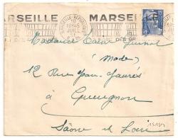 MARSEILLE REPUBLIQUE Bouches Du Rhone. LE PORT DES PRIMEURS - Marcophilie (Lettres)