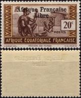 AEF Afrique Equatoriale Française 162 ** MNH Sans Charnière Surchargé Afrique Française Libre (CV 3,25 €) 2 - Ungebraucht