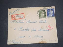 ALLEMAGNE - Enveloppe En Recommandé De Bremen - Hemelingen Pour La France En 1943 - L 16297 - Allemagne