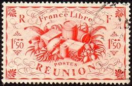 Réunion Obl. N° 240 - Détail De La Série De LONDRES - Productions - 1fr Rouge - Oblitérés