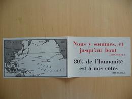 WWII WW2 Tract Flugblatt Propaganda Leaflet In French, EH(F).132, Nous Y Sommes, Et Jusqu'au Bout (Roosevelt-Churchill) - Oude Documenten