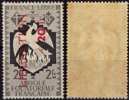 AEF Afrique Equatoriale Française 189 ** MNH Sans Charnière Surchargé Libération + 10 Fr. (CV 13,50 €) 1 - A.E.F. (1936-1958)