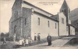 38 - ISERE / 382405 - Saint Pierre De Commiers - L'église -  Beau Cliché Animé - Other Municipalities