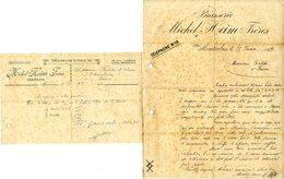 82  MONTAUBAN  BRASSERIE    MICHEL HEIM  FRERES    2  FACTURES   1942 - Levensmiddelen