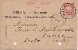 CRETE CART POSTAL 1899 FROM MUNICH TO KANEA(CRETE)-23/8/1899 - Kreta