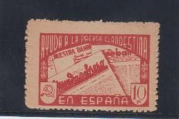 VIÑETA POLÍTICA REPUBLICANA.  AFINET 2123 * - Vignettes De La Guerre Civile
