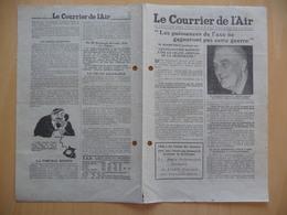 WWII WW2 Tract Flugblatt Propaganda Leaflet In French, EH(F).50/2, Le Courrier De L'Air, 1er Janvier 1941 - Oude Documenten