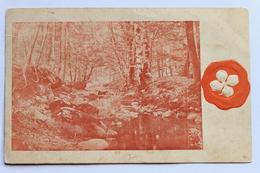 Venlig Hilsen, Woodland Scene & Embossed Four Leaf Clover - Greetings From...