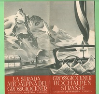 Austria Carinai Mappa Strade Grossclockner Cars Strasse Hochalpen  Alpi  Austriche Austriache - Carte Stradali